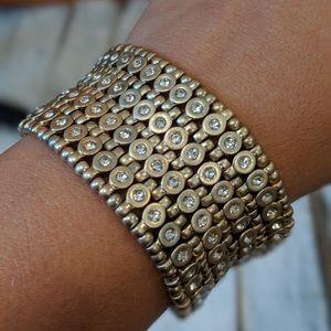 Premier Designs Stretch Gold Bracelet RETIRED